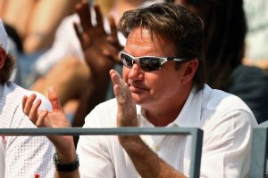 Jimmy Connors coaching Andy Roddick at the US Open 2007 (thanks to zimbio.com)
