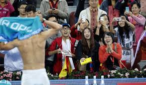Nadal gets back to number 1 in Beijing (Thanks to yahoonewsphotos.tumbler.com)
